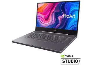 "ASUS ProArt StudioBook 15 Mobile Workstation Laptop, 15.6"" UHD NanoEdge Bezel, Intel Core i7-9750H, 32 GB DDR4, 512GB+512GB RAID-0 SSD, NVIDIA GeForce RTX 2060, Windows 10 Pro, H500GV-XS76, Star Grey"