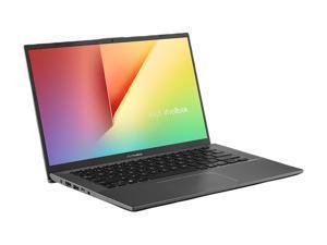 "ASUS VivoBook 14 Laptop, 14"" FHD, AMD Ryzen 7-3700U, AMD Radeon RX Vega 10 Graphics, 8 GB DDR4 RAM, 512 GB PCIe SSD, Backlit KB, Fingerprint, Windows 10 Home, Slate Grey, F412DA-NH77"
