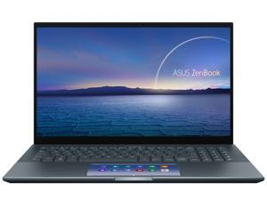 "ASUS ZenBook 15 Ultra-Slim Laptop 15.6"" 4K UHD Touch Display, Intel Core i7-10750H, GeForce GTX 1650 Ti, 16GB RAM, 1TB PCIe SSD, ScreenPad 2.0, Thunderbolt 3, Windows 10 Pro, Pine Grey, UX535LI-NH77"