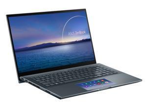 "ASUS ZenBook 15 Ultra-Slim Laptop 15.6"" 4K UHD Touch Display, Intel Core i7-10750H, GeForce GTX 1650 Ti, 16GB RAM, 1TB PCIe SSD, ScreenPad 2.0, Thunderbolt 3, Windows 10 Pro, Pine Grey, UX535LI-NH77"
