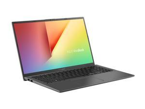 "ASUS VivoBook 15 Thin and Light Laptop, 15.6"" FHD Display, Intel i5-1035G1 CPU, 8 GB RAM, 256 GB SSD + 1 TB HDD, Backlit Keyboard, Fingerprint, Windows 10, Slate Gray, F512JA-NH56"