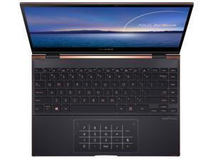"ASUS ZenBook Flip S 13 Ultra Slim Laptop, 13.3"" 4K UHD OLED Touch Display, Intel Core i7-1165G7 CPU, Intel Iris Xe, 16 GB RAM, 1 TB SSD, Thunderbolt 4, TPM, Windows 10 Pro, Jade Black, UX371EA-XH77T"