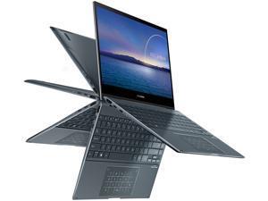 "ASUS ZenBook Flip 13 Ultra Slim Convertible Laptop, 13.3"" OLED FHD Touch Display, Intel Core i7-1165G7 Processor, Intel Iris Xe Graphics, 16 GB RAM, 512 GB SSD, Windows 10 Pro, Pine Grey, UX363EA-XH71"