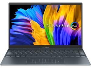 "ASUS ZenBook 13 Ultra-Slim Laptop, 13.3"" OLED FHD NanoEdge Bezel Display, AMD Ryzen 5 5500U, 8 GB LPDDR4X RAM, 512 GB PCIe SSD, NumberPad, Wi-Fi 5, Windows 10 Home, Pine Grey, UM325UA-DS51"