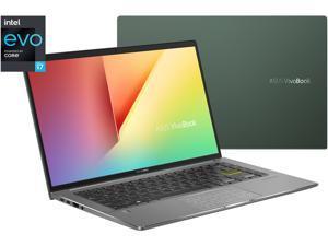 "ASUS VivoBook S14 S435 Thin and Light Laptop, 14"" FHD Display, Intel Core i7-1165G7 CPU, 8GB LPDDR4X RAM, 512GB PCIe SSD, Thunderbolt 4, Wi-Fi 6, Windows 10 Home, Deep Green, S435EA-BH71-GR"