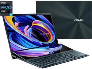 "ASUS ZenBook Duo 14 UX482 14"" FHD NanoEdge Touch Display, Intel Evo, Intel Core i7-1165G7 CPU, 8GB RAM, 512GB PCIe SSD, Innovative ScreenPad Plus, Windows 10 Home, Celestial Blue, UX482EA-DS71T"