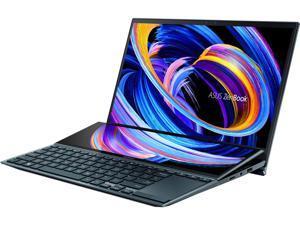 "ASUS Laptop ZenBook Duo UX482EA-DS71T-CA Intel Core i7 11th Gen 1165G7 (2.80 GHz) 16 GB LPDDR4X Memory 512 GB PCIe SSD Intel Iris Xe Graphics 14.0"" Touchscreen Windows 10 Home 64-bit"