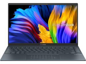 "ASUS ZenBook 14 Ultra-Slim Laptop 14"" Full HD NanoEdge Bezel Display, AMD Ryzen 5 5500U CPU, Radeon Graphics, 8GB RAM, 512GB PCIe SSD, NumberPad, Windows 10 Home, Pine Grey, UM425UA-ES51"