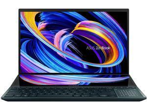 "ASUS ZenBook Pro Duo 15 OLED UX582 Laptop, 15.6"" OLED 4K UHD Touch Display, Intel Core i9-10980HK, 32GB RAM, 1TB SSD, GeForce RTX 3070, ScreenPad Plus, Windows 10 Pro, Celestial Blue, UX582LR-XS94T"