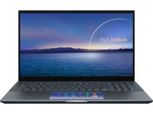 "ASUS ZenBook Pro 15 OLED Ultra-Slim Laptop 15.6"" 4K UHD OLED NanoEdge Bezel Touch Display, Intel Core i7-10750H, GeForce GTX 1650 Ti, 16GB RAM, 1TB PCIe SSD, Windows 10 Pro, Pine Grey, UX535LI-IH77T"