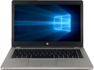 "Refurbished HP Grade A Elitebook Folio 9470M 14"" Laptop, Intel Core I7-3687U 2.1 GHz, 8GB Memory, 480G SSD, WIFI, Windows 10 Home 64-bit (Multi-language), 1 Year Warranty"