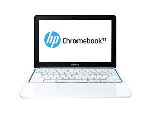 HP Chromebook F2J07AA#ABA, 2 GB RAM, 16 GB eMMC, White/Blue - Refurbished - Grade B