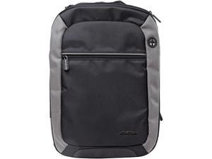 """Max Cases Notebook Backpack - For Business, School and Traveling - Holds up to 15.6"""" Laptop / MacBook Bag - Dedicated 10"""" Tablet Compartment - Black with Grey Accents"""