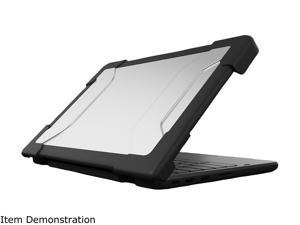 """Max Cases Black Extreme Shell-S for HP G6 EE Chromebook Clamshell 11.6"""" (Black) Model HP-ESS-G6EE-BLK"""