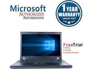 "Refurbished Lenovo ThinkPad T520 15.6"" Intel Core i5-2520M 2.5GHz 4GB DDR3 320GB DVD Windows 10 Professional 64 Bits 1 Year Warranty"