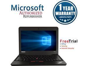"Lenovo Laptop ThinkPad X131E AMD E-Series E-300 (1.3 GHz) 4 GB Memory 320 GB HDD Integrated Graphics 11.6"" Windows 7 Professional"