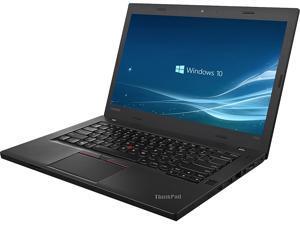 "Lenovo Laptop ThinkPad T460 Intel Core i5 6th Gen 6300U (2.40 GHz) 8 GB Memory 128 GB SSD Intel HD Graphics 520 14.0"" Windows 10 Pro 64-bit"
