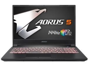 "Aorus 5 SB-7US1130SH 15.6"" 144 Hz IPS Intel Core i7 10th Gen 10750H (2.60 GHz) NVIDIA GeForce GTX 1660 Ti 16 GB Memory 512 GB SSD Windows 10 Home 64-bit Gaming Laptop"