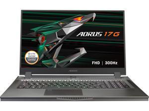 "GIGABYTE AORUS 17G - 17.3"" 300 Hz - Intel Core i7-10870H - NVIDIA GeForce RTX 3080 Laptop GPU 8 GB GDDR6 - 32 GB Memory - 1 TB PCIe SSD - Windows 10 Home - Gaming Laptop (AORUS 17G YC-8US6450RH)"