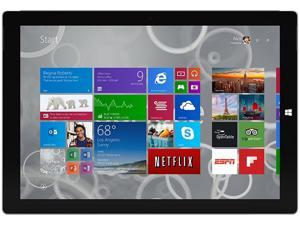 "Microsoft Surface Pro 3 Intel Core i5 4300U (1.90 GHz) 4 GB Memory 128 GB SSD 12.0"" 2160 x 1440 Tablet - Grade A Windows 8.1 Pro 64-Bit Silver"