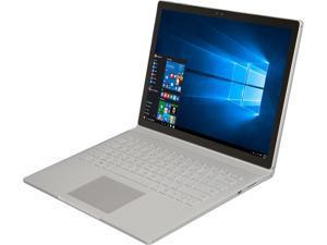 "Microsoft Surface Book SV9-00001 Ultrabook Intel Core i5 6300U (2.40 GHz) 8 GB Memory 256 GB SSD Intel HD Graphics 520 13.5"" 3000 x 2000 Touchscreen 5 MP Front / 8 MP Rear Camera Windows 10 Pro 64-Bit"