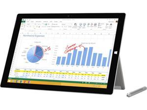 "Microsoft Surface Pro 3 Intel Core i5 4300U (1.90 GHz) 4 GB Memory Intel HD Graphics 4400 12"" Touchscreen 2160 x 1440 Grade A Tablet Windows 10 Pro"