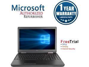 "Refurbished Dell Latitude E5540 15.6"" Intel Core i5-4300U 1.9GHz 8GB DDR3 240GB SSD DVD Windows 10 Professional 64 Bits 1 Year Warranty"