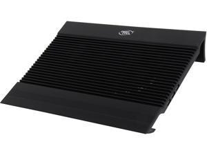 "DEEPCOOL N8 BLACK Laptop Cooling Pad 17"" Pure Aluminium Extrution Panel Dual 140mm Fans 4 USB Ports, 9/10 Scores"