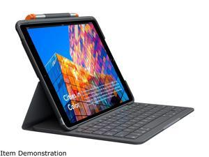 Logitech iPad Keyboard Case Slim Folio for iPad 7th Gen (2019), 8th Gen (2020) - Graphite (920-009473)