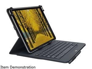 Logitech Black Universal Folio with Integrated Keyboard for 9-10 inch Tablets-BLACK-US-BT-CAN-AMR/AP Model 920-008334