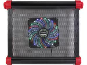"""Enermax Aeolus Vegas CP007 17"""" Aluminum Gaming Notebook Cooling Pad w/ 180mm Movable Fan"""