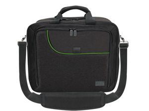 USA GEAR Console Carrying Case - Xbox Travel Bag Compatible with Xbox One and Xbox 360 with Water Resistant Exterior and Accessory Storage for Xbox Controllers, Cables, Gaming Headsets - Green