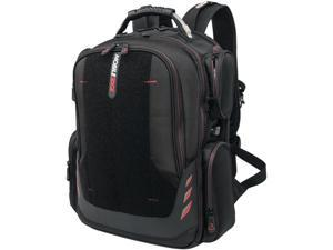 """Mobile Edge - Core Gaming Checkpoint Friendly 18.4"""" Backpack w/Velcro Front Panel - Black with Red Trim"""