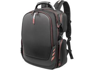 """Mobile Edge Core Gaming Checkpoint Friendly 18.4"""" Backpack w/Molded Front Panel - Black with Red Trim"""