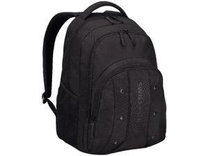Wenger Upload Notebook Carrying Backpack - Fits Most 16in Laptops - Black 64081001