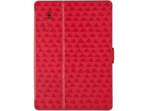 Speck Stylefolio Fitted Case for iPad Air - Valley Vista Red/Dark Poppy Red/Black SPK-A2252