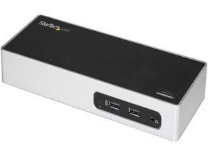 StarTech.com DK30ADD USB 3.0 Dual Monitor Docking Station / Mac & Windows / USB to HDMI / USB to VGA or DVI / Port Replicator / 6 x USB 3.0