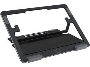 "CoolerMaster ErgoStand Air Black Laptop Cooler, Aluminum Alloy, Soft Rubber Padding,  Ergonomic Versatility, Portable & Lightweight, Supports up to 15"" Laptop"