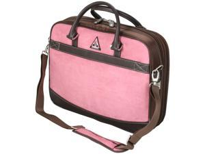 """Mobile Edge Pink ScanFast Checkpoint Friendly Element Briefcase - 16"""" PC/17"""" Mac Model MESFEBX"""