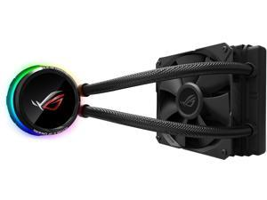 ASUS ROG RYUO 120 RGB AIO Liquid CPU Cooler 120mm Radiator (120mm 4-pin PWM Fan) with LIVEDASH OLED Panel and FanXpert Controls, 90RC0010-M0UAY0