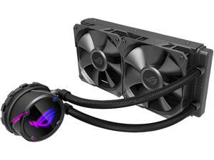 ASUS ROG Strix LC 240 RGB All-in-one Liquid CPU Cooler 240mm Radiator, Intel 115x/2066 and AMD AM4/TR4 Support, Dual 120mm 4-pin PWM Addressable RGB Fans