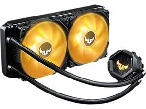 ASUS TUF Gaming LC 240 RGB All-in-one Liquid CPU Cooler, Aura Sync, TUF 120mm RGB Radiator Fans with Fan Blade Groove Design