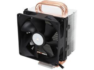 Cooler Master Hyper T2 Compact CPU Cooler  Dual Looped, CDC Heatpipes, 92mm PWM Fan, Aluminum Fins for AMD Ryzen/Intel LGA1200/1151