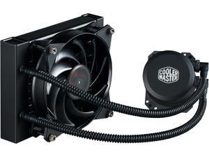 Cooler Master MasterLiquid Lite 120 AIO CPU Liquid Cooler, White Led Pump, FEP Tubing, 120mm Air Balance MF, Dual Dissipation Technology