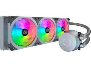Cooler Master MasterLiquid ML360P Silver Edition ARGB Close-Loop AIO CPU Liquid Cooler, 360 Radiator, SF360R Fan, Addressable RGB Lighting, for AMD Ryzen, Threadripper/Intel LGA1200/1151