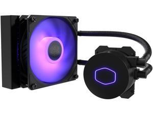 CoolerMaster MasterLiquid ML120L RGB V2, Close-Loop AIO CPU Liquid Cooler, 120 Radiator, SickleFlow 120mm, RGB Lighting, 3rd Gen Dual Chamber Pump for AMD Ryzen/Intel LGA1200/1151