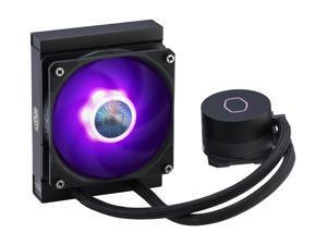 CoolerMaster MasterLiquid ML120L RGB V2, Close-Loop AIO CPU Liquid Cooler, 120 Radiator, SickleFlow 120mm, RGB Lighting, 3rd Gen Dual Chamber Pump for AMD Ryzen/Intel LGA1200/1151