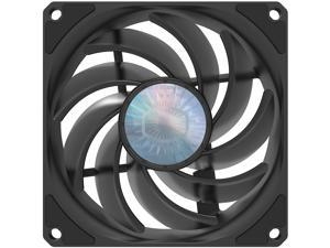 Cooler Master SickleFlow 92 All-Black Square Frame Fan with  Air Balance Curve Blade Design, Sealed Bearing, PWM Control for Computer Case & Air Coolers