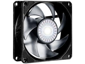 Cooler Master SickleFlow 80 V2 All-Black Square Frame Fan with  Air Balance Curve Blade Design, Sealed Bearing, PWM Control for Computer Case & Air Coolers