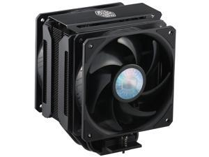 Cooler Master MasterAir MA612 Stealth CPU Air Cooler, 6 Heat Pipes, Nickel Plated Base, Aluminum Black Fins, Push-Pull, Dual SickleFlow Fans for AMD Ryzen/Intel 1200/1151